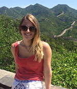 Marlee Hein at the Great Wall