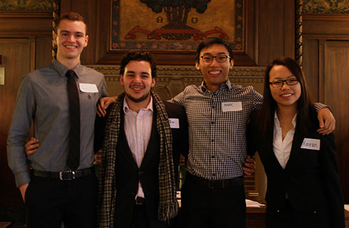 Four international students who spoke at the Scholarship reception