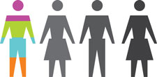 Graphic of four people