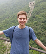 Aaron Lefkow at the Great Wall
