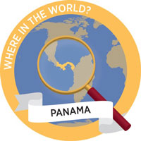 Where in the World? graphic focused on Panama
